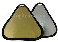 """Reflector Portable 24"""" Silver Gold Light Professional photography studio 5265"""