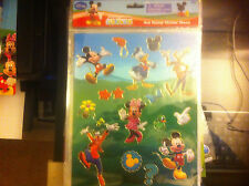 Disney Mickey Mouse Club House Hot Stamp Sticker Sheet