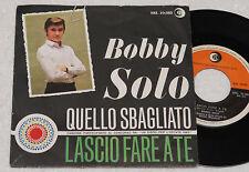BOBBY SOLO:45 GIRI-1°STAMPA ORIGINALE 1965 TOP EX