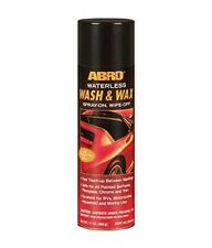 ABRO Waterless Car Wash and Wax Cleaner, Carnauba Wax, Body Polish, Shield,Shine
