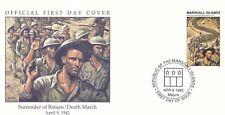 W39 1-1 Isole Marshall FDC COVER 1992 RESA DI BATAAN/MORTE MARZO 1942