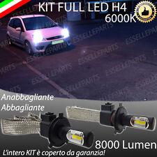 KIT FULL H4 LED FORD FIESTA MK5 LAMPADE 6000K BIANCO NO ERROR 8000 LUMEN