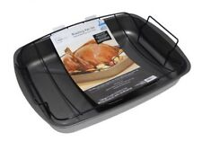 NEW Mainstays 2-Piece Large Non-Stick Roasting Pan Set with Removable Rack