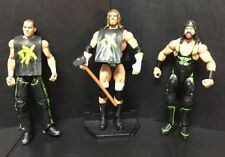 Lot Of 3 WWE ELITE Figures~SHAWN MICHAELS Flashback*TRIPLE H Flashback*X-Pac
