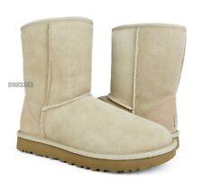 UGG Classic Short II Sand Suede Fur Boots Womens Size 10 ~NIB~