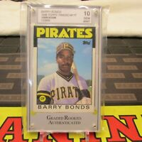 1986 Topps Traded Barry Bonds XRC Baseball Card #11T, Grade 10, Gem Mint!