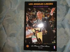 2002-03 LOS ANGELES LAKERS MEDIA GUIDE Yearbook 3X CHAMPS!!! 2003 CHICK HEARN AD