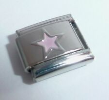 PINK STAR Italian Charm - Stars Night Sky 9mm Space fits Classic Bracelets E127