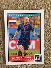+++ ARJEN ROBBEN 2015 DONRUSS PRESS PROOF #'D FOOTBALL CARD #43 - HOLLAND +++