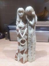 Past Times Gustav Klimt 2 Women Figurine Statue Ornament Homeware Collectable