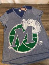 NWT Womens Majestic Hardwood Classics Dallas Mavericks Shirt Size Large