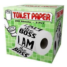 I Am The Boss Design Toilet Paper Roll Tissue Prank Joke Gag Gift