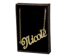 18k Plateó la Collar de Oro Con el Nombre - NICOLE - Regalos Para las Mujeres