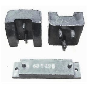 3-pc Set of Engine Mounts for 1935-1937 Plymouth & Dodge