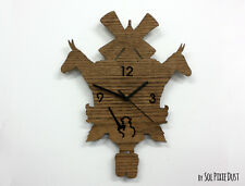 Don Quixote Modern Cuckoo clock - Wooden Wall Clock