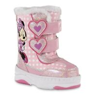 NEW Disney Minnie Mouse Pink Winter Boots Toddler Girls size 11 12