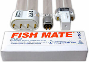 GENUINE FISH MATE UV BULB ALL SIZES POND FILTER UVC BULB TUBE LAMP PLS PLL