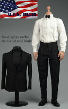 "1/6 Vintage Tuxedo Gentleman Suit Shoes Set For 12"" Hot Toys Male Figure ❶USA❶"