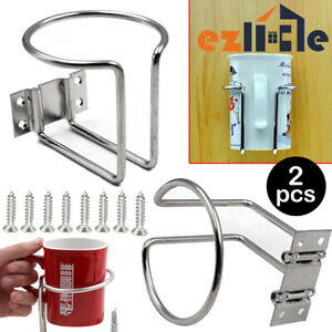 2x Cup Stainless Steel Boat Drink Holder Car Yacht Ring Holders Truck Marine