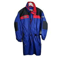 Columbia Boys Snowsuit Blue Red Full Pants Long Sleeve Winter Youth Junior 14/16