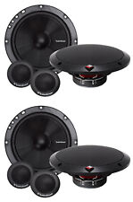 "4) Rockford Fosgate R1675-S 6.75"" 160W 2 Way Car Component Speaker Audio System"