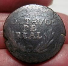 1814-18 (MEXICO) DURANGO 1/8 REAL OCTAVO (MEXICO) --WAR of INDEPENDENCE--