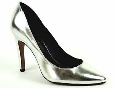 Luxury Rebel Women's Victoria Pumps Silver Leather Size 8.5 M