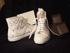 Louis Vuitton White Multicolore Punchy Sneakers Women's 38.5/Fits 8/8.5 New