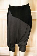 NWT - MOYURU BLACK AND GREY COLORBLOCK HAREM PANTS