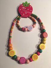 Wooden Beads  Children's Necklace & Bracelet Sets-K2