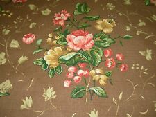 "~3 4/8 YDS~COWTAN TOUT~""SUSANAH"" FLORAL~LINEN UPHOLSTERY FABRIC FOR LESS~"