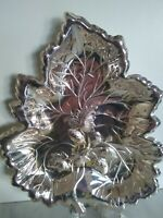 Lovely Strawberry Leaf Dish English Vintage Silver Plate VGC
