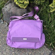 TUMI Lavender Purple Nylon Crossbody Messenger Laptop Case