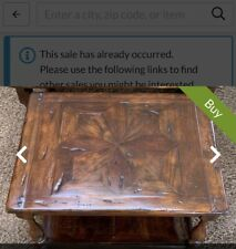 """Theodore Alexander """"Castle bromwich"""" Antique Wooden Coffee Table"""