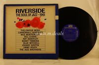 """Riverside - The Soul Of Jazz - 1961, Record 12"""" VG"""