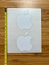 2 Genuine OEM Authentic White Apple Logo Brand New Decal Stickers Luggage Laptop