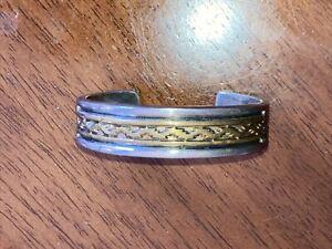 Darin Bill Sterling Bracelet 1/20 12 G.F. cuff bracelet