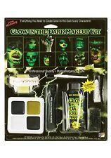Glow In The Dark Makeup Kit Vampire Fangs Halloween Zombie Scary Fake Skin