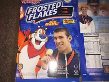 "2008 Michael Phelps Olympic Frosted Flakes Cereal Box Empty ""Rare"" Two Bag Pack"