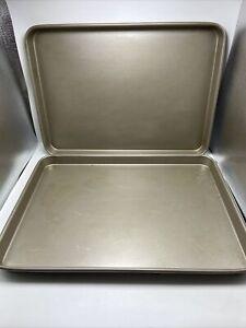 "Cuisinart Baking Sheet Pan Trays Set Of 2 Rectangle 12.5"" X 17.5"" X 1""Heavy Duty"