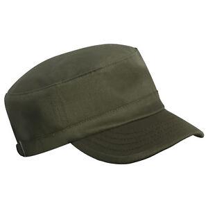 MILITARY ARMY CAP PLAIN COTTON CADET COMBAT HAT ADJUSTABLE UNISEX