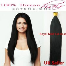 40.6cm-55.9cm 1g 7A Adhesivo / Punta en I Dobles Indio Pelo Natural Remy GB 1st