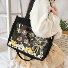 Japanese Lolita Harajuku Shoulder Bag Itabag Crossbody Transparent Handbag