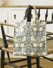 William Morris Pimpernel Cream PVC / Oilcloth  Small Floral ToteBag