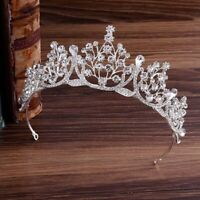 New Crystal Wedding Bridal Tiara Crown Rhinestone Pageant Prom Diadem Headdress