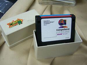 """Vintage LOT Floppy Disks  3.5"""" Diskette Storage Case Holder Box Tandy 5 10 3 1/2"""