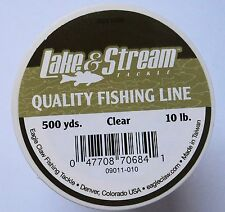 Lake & Stream Mono Fishing Line - Clear - 4 Spools - 10lb, 500yd/ea #09011-010