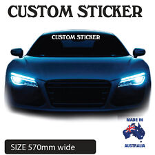 CUSTOM WINDSCREEN CAR STICKER DECAL POPULAR UTE, CAMPER , TRAILER, PERSONALISED