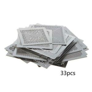 33Pcs Direct Heat Graphics Card Stencil for IN-TEL/for NVIDIA/for ATI Video Chip