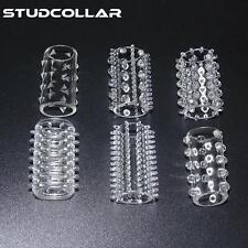 STUDCOLLAR-PENIS-SLEEVES - 6 Pack Stretchy Re-Useable Clear Silicone Cock Ring